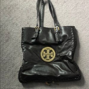 Dark brown authentic Tory Burch purse